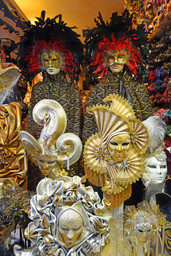 масленица маскирует venetian стоковые фото
