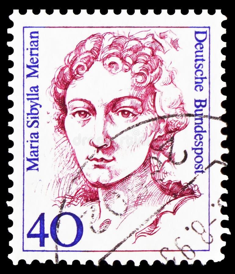 Мария Sibylla Merian (1647-1717), художник, натуралист и научный иллюстратор, женщины в немецком serie истории, около 1987 стоковое изображение