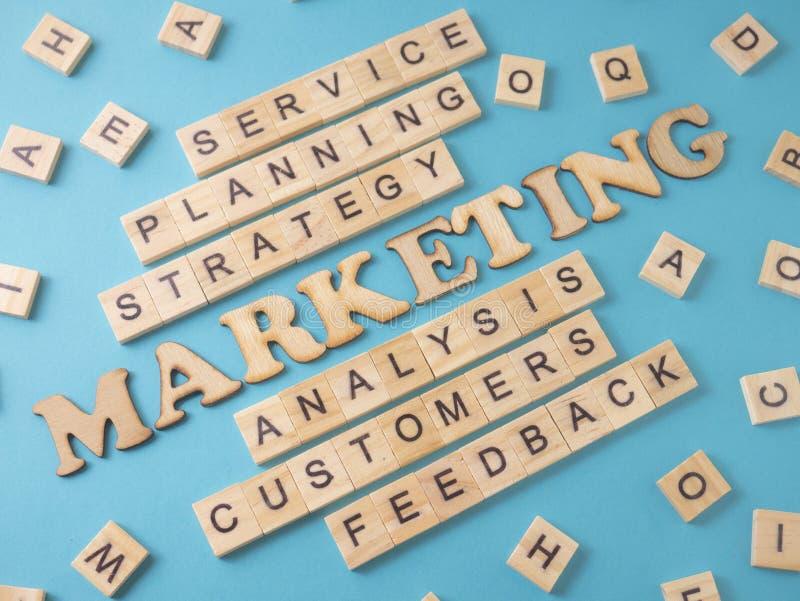 Маркетинг, концепция цитат слов дела мотивационная стоковые изображения rf