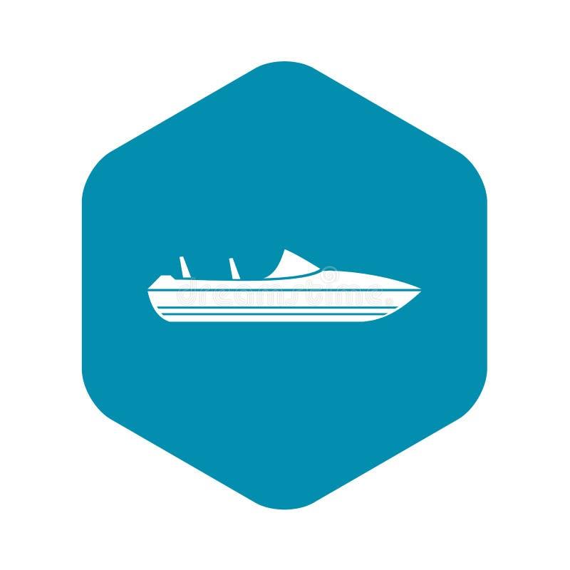 Меньший значок powerboat, простой стиль иллюстрация штока