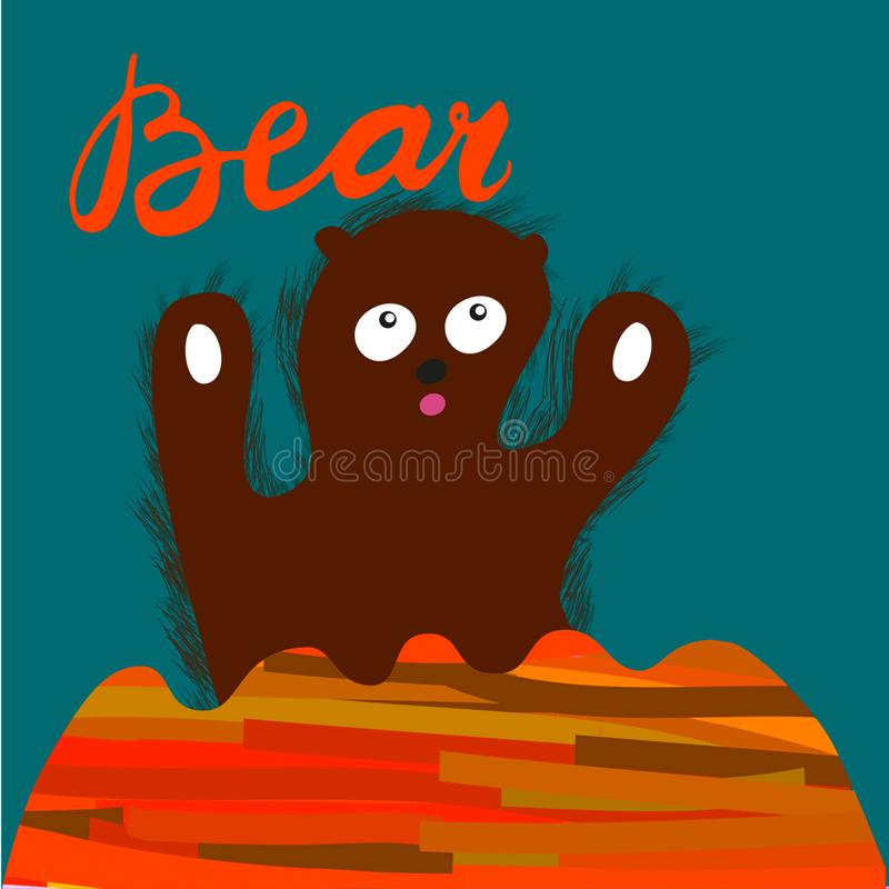 Медведь знака с иллюстрацией вектор бесплатная иллюстрация