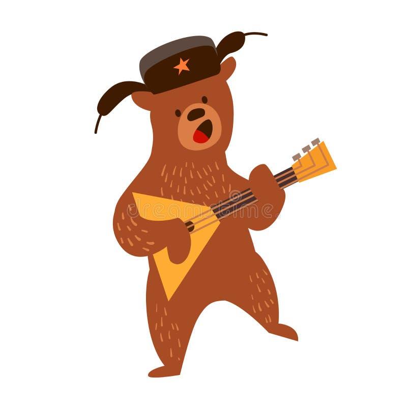 Картинки медведя с балалайкой и в шапке ушанке