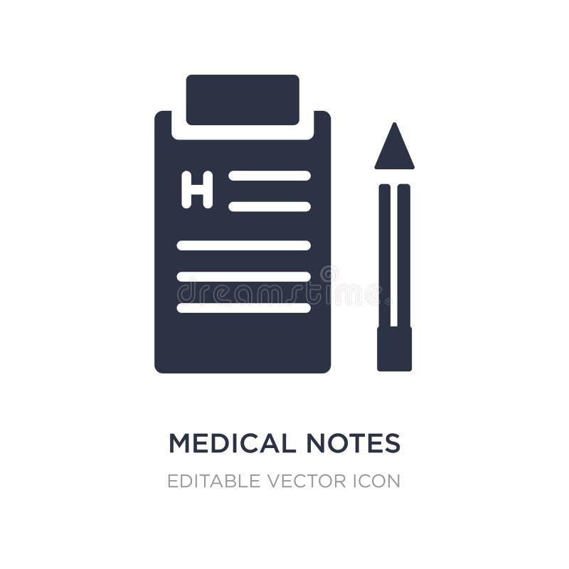 медицинские примечания бумаги списка на значке доски сзажимом для бумаги на белой предпосылке Простая иллюстрация элемента от мед бесплатная иллюстрация