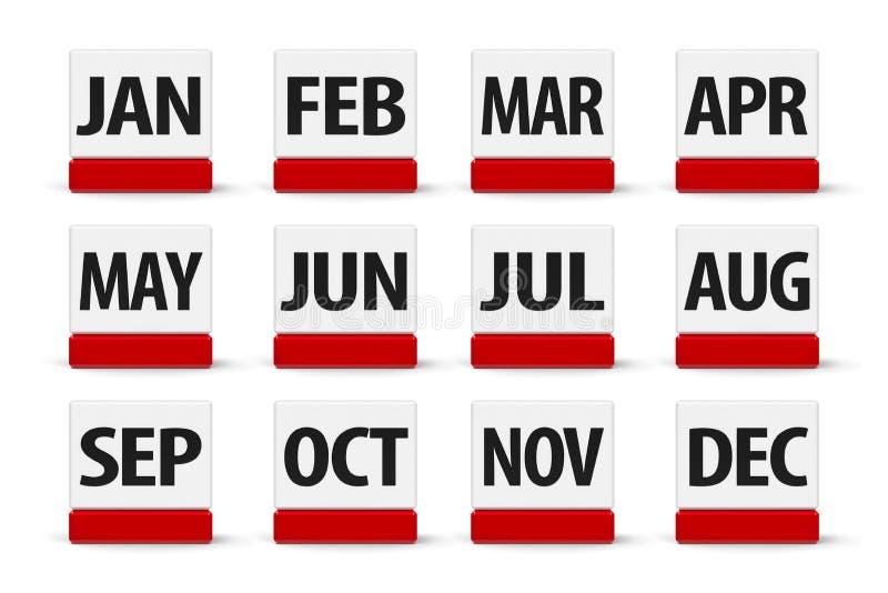 Месяцы календаря #2 иллюстрация вектора