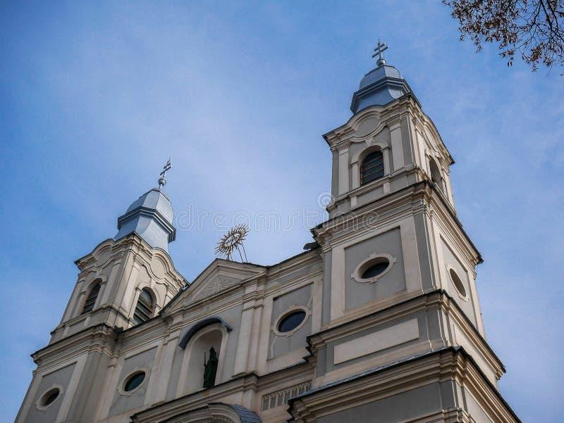 Местная католическая церковь, одно из посещать места паломниками в Восточной Европе стоковая фотография rf