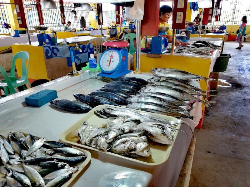 Местный рыбный базар в Mamburao, Mindoro стоковые фотографии rf