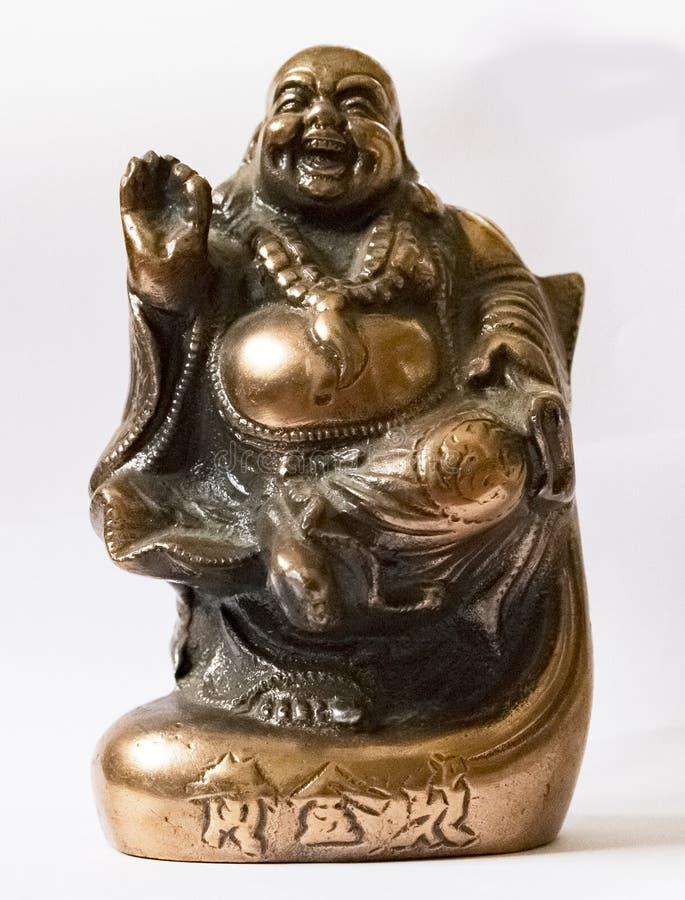 Металл смеясь Буддой УДАЧИ стоковое изображение rf