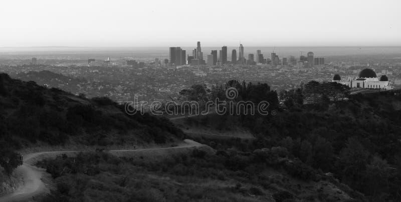 Метрополия красивого светлого горизонта города Лос-Анджелеса городского городская стоковая фотография