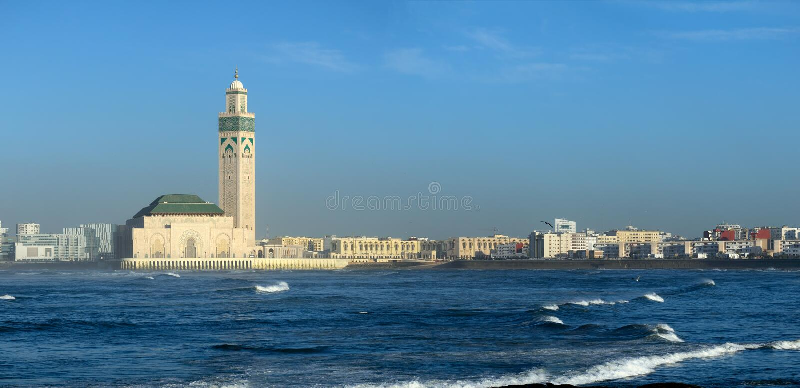 Мечеть Хасана II в Касабланке Марокко стоковые изображения rf