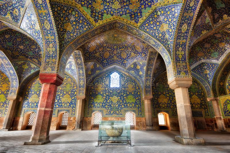 Мечеть Shah на квадрате Naqsh-e Jahan в Isfahan, Иране, принятом в Januray 2019 принятое в hdr стоковая фотография