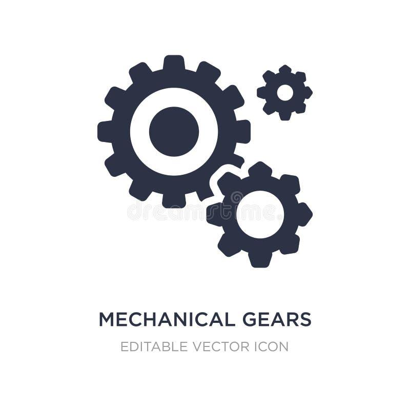 механический значок шестерней на белой предпосылке Простая иллюстрация элемента от другой концепции иллюстрация вектора