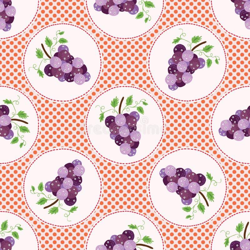 Милая иллюстрация вектора точки польки виноградин повторять картины безшовный иллюстрация вектора