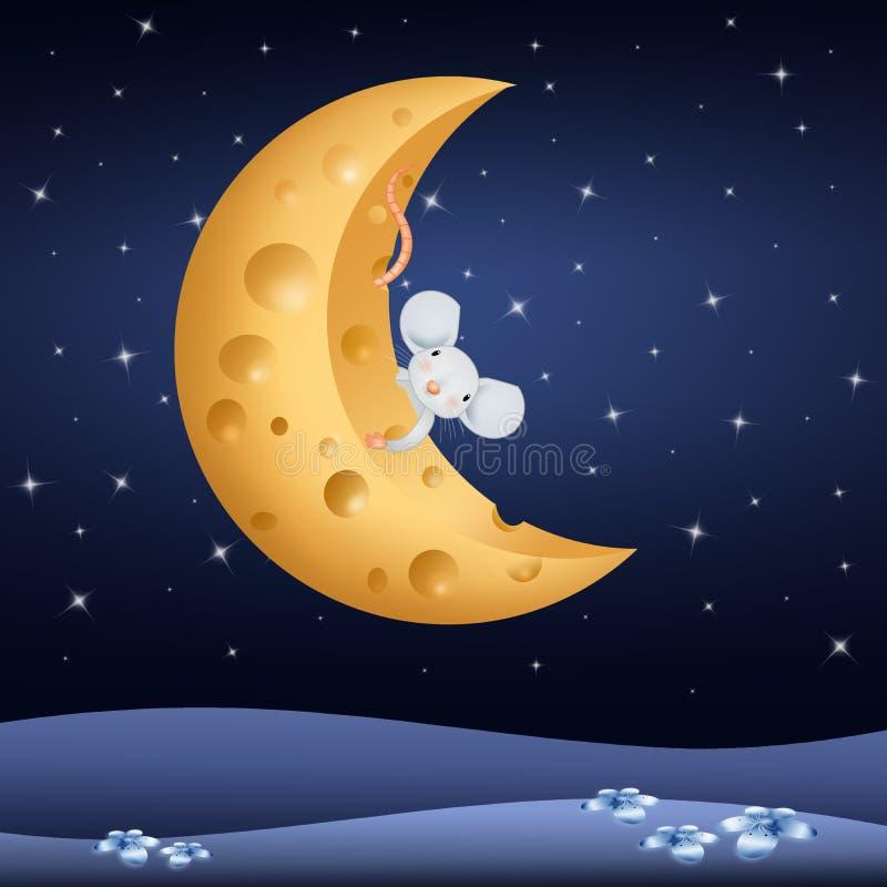 Мышь на луне картинки