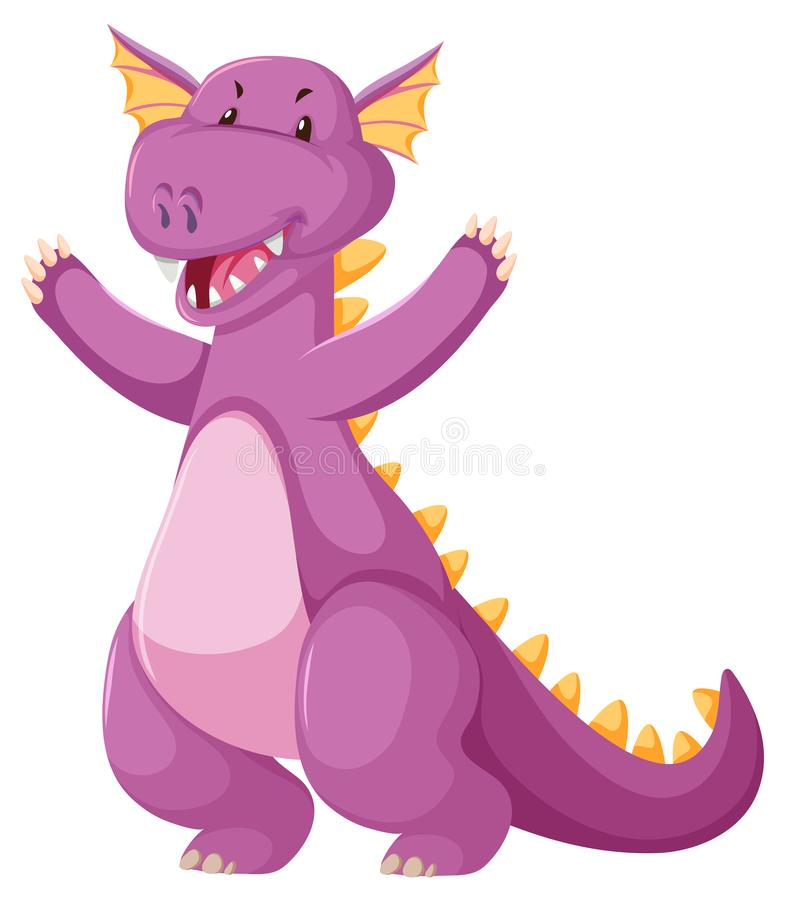 Милый розовый дракон иллюстрация вектора