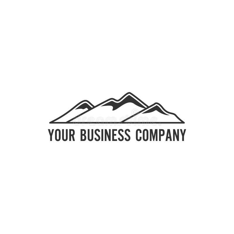 Минималистский логотип горы бесплатная иллюстрация