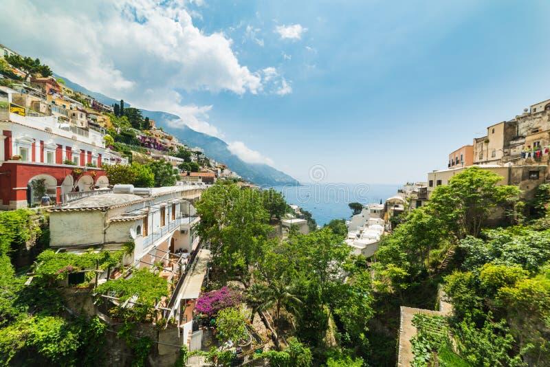 Мир известное Positano на солнечный день стоковое фото