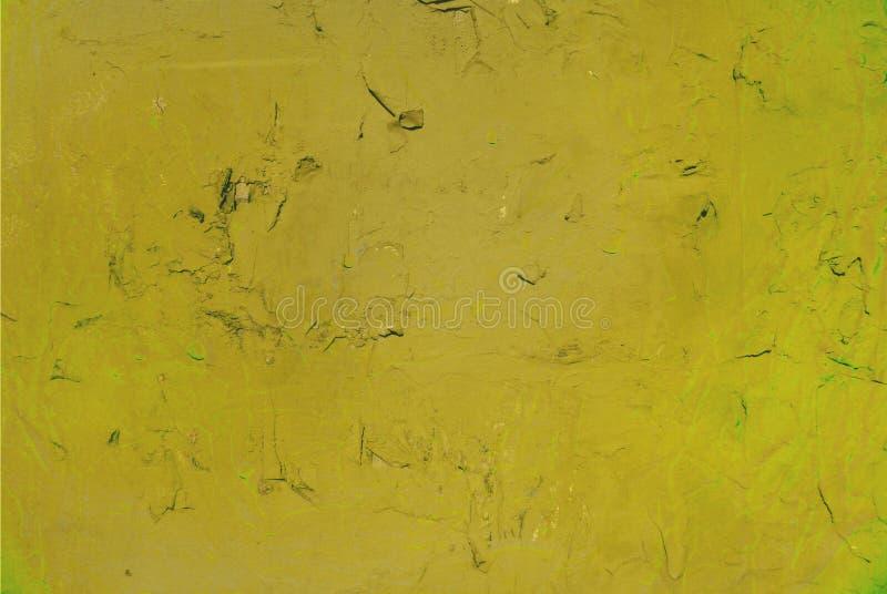 Мягкие падения краски на стене, яркой желтой палитре цветов стоковое изображение rf
