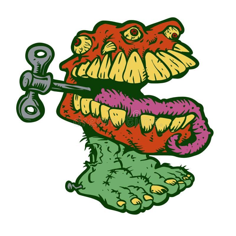Мультфильм dentures зомби чудовища бесплатная иллюстрация