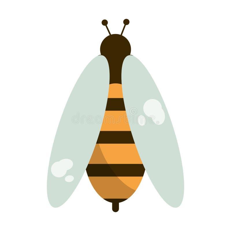 Мультфильм ошибки пчелы изолировал бесплатная иллюстрация