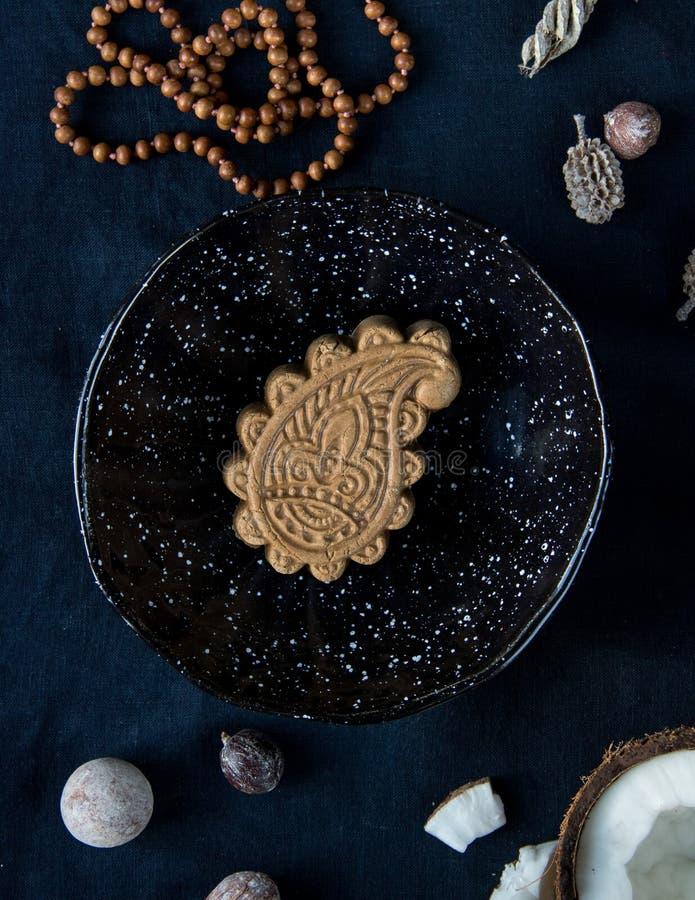 Мыло Ayurvedic Пейсли индейца от естественных трав и масел стоковое изображение