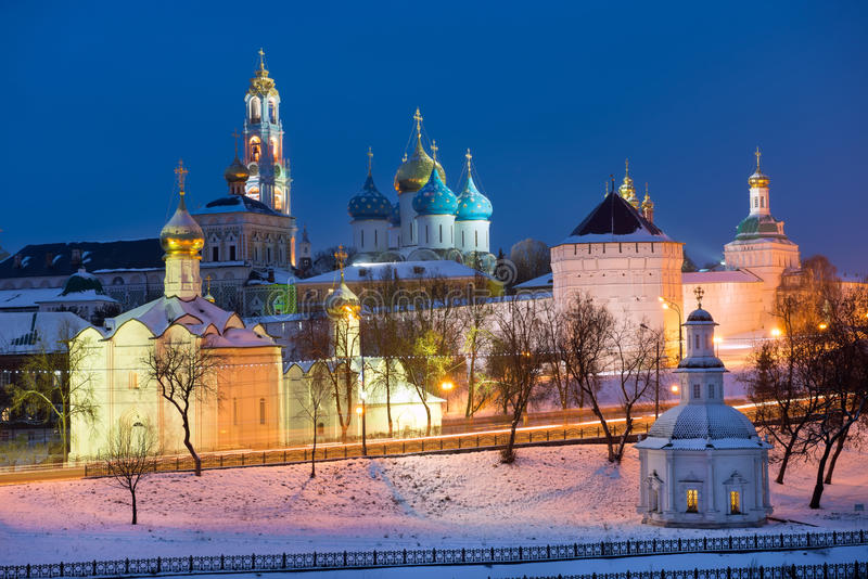 мiews of the Holy Trinity St. Sergius Lavra. Sergiev Posad, the views of the Holy Trinity St. Sergius Lavra. Russia stock photos