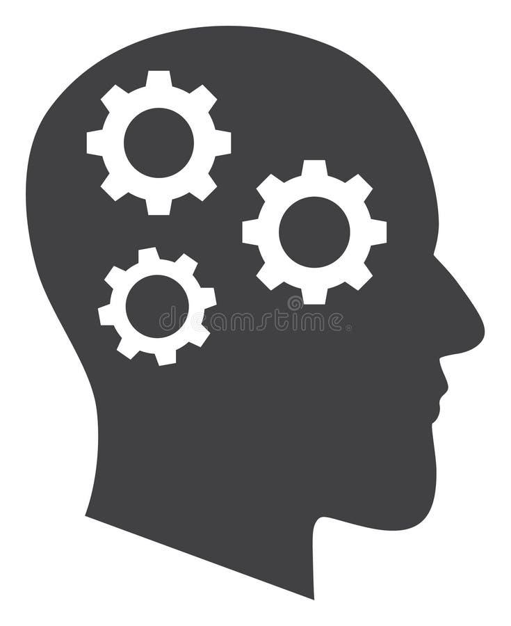 Мозг вектора зацепляет значок иллюстрация штока