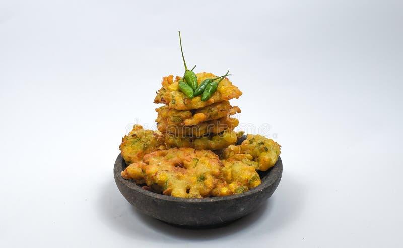 Мозоль Bakwan от индонезийской еды один из деликатесов Индонезии стоковое фото