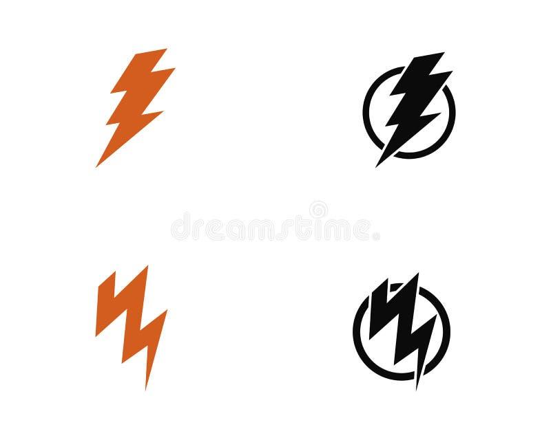 Молния, элемент дизайна логотипа вектора электричества Символ электричества энергии и грома иллюстрация штока