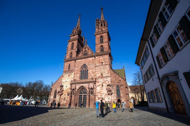 Монастырская церковь Базеля в историческом центре города стоковые изображения rf