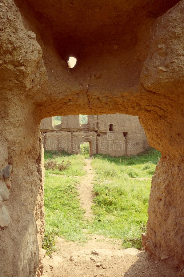 Монголия монастырь Manjushri, который расположен в Tuv Aimak, 43 km к югу от Улан-Батора стоковое фото