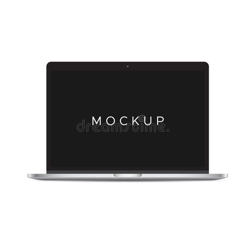 Модель-макет книги Mac изолированный на белой предпосылке иллюстрация штока