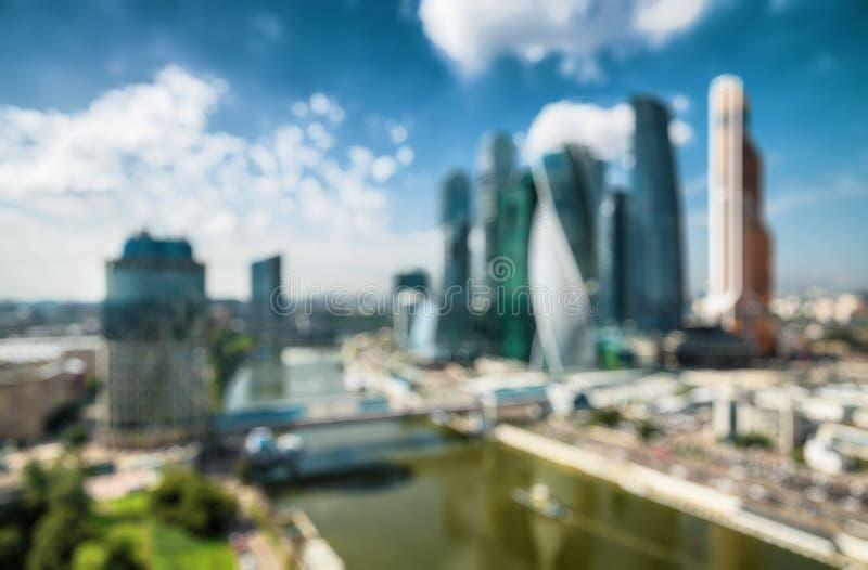 Москв-город как творческая предпосылка нерезкости стоковое изображение rf