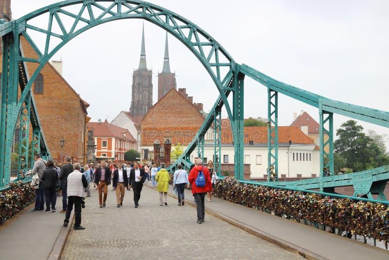 Мост Wroclaw стоковая фотография