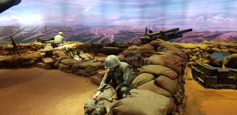 Морские пехотинцы в дисплее Вьетнама стоковое фото rf
