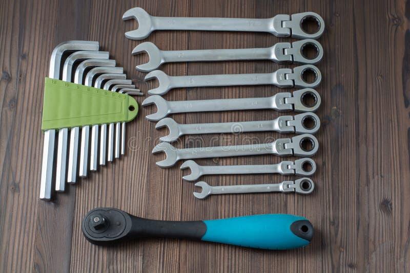 Наборы различных инструментов для выполнять многочисленные работы стоковое фото rf