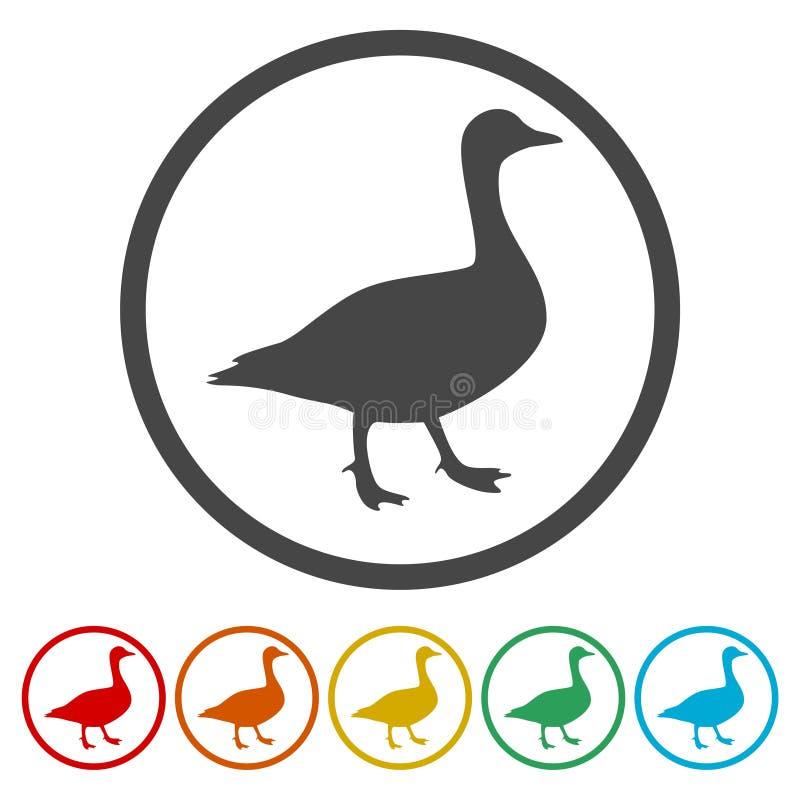 Набор значков силуэта утки иллюстрация штока