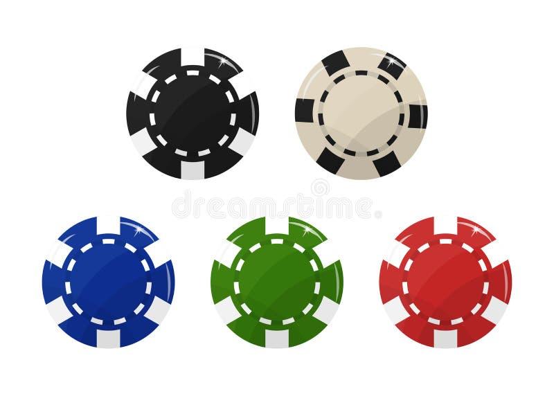 Набор микросхем казино иллюстрация вектора