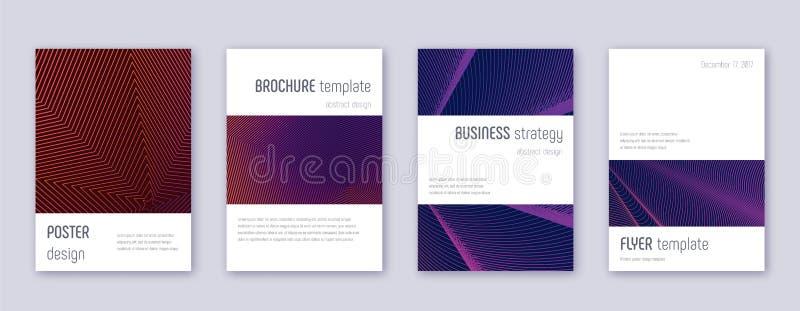Набор шаблона дизайна брошюры Minimalistic лилово бесплатная иллюстрация