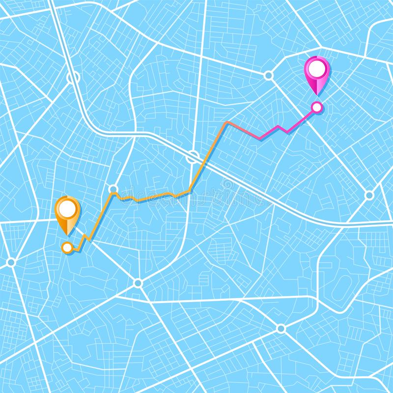 Навигация карты города бесплатная иллюстрация
