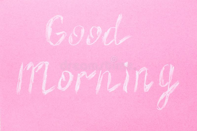 Надпись в меле на розовой предпосылке стоковое фото rf