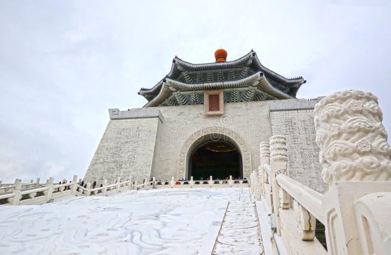 Национальный Chiang Kai-shek мемориальный Hall национальный монумент, достопримечательность раскрытая в памяти о генерале Chiang  стоковая фотография