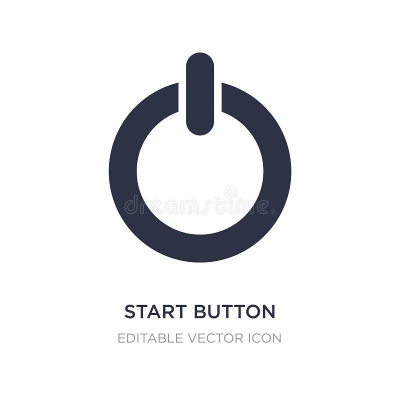 начните значок кнопки на белой предпосылке Простая иллюстрация элемента от концепции мультимедиа бесплатная иллюстрация