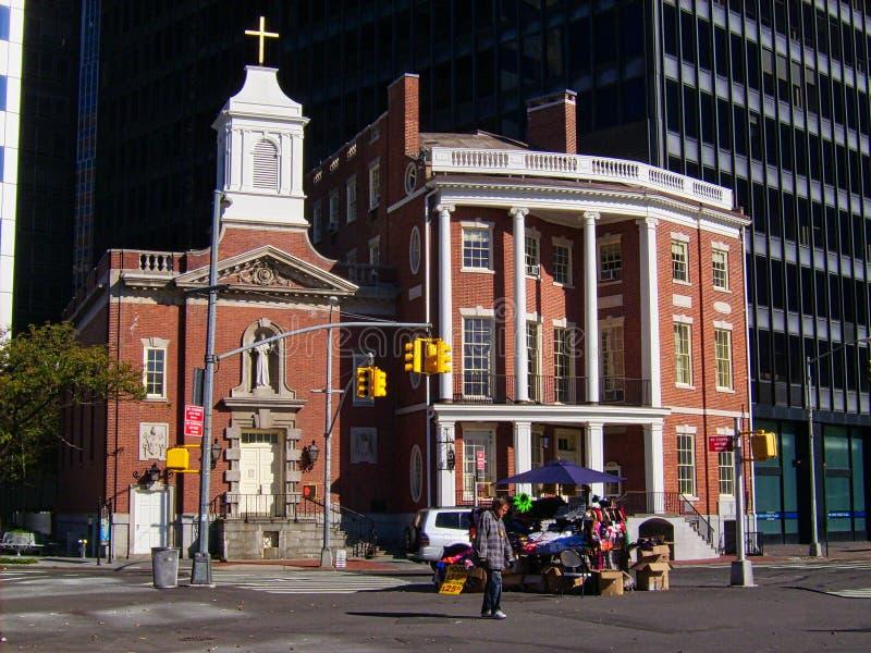 небольшая церковь в Нью-Йорке стоковое фото rf
