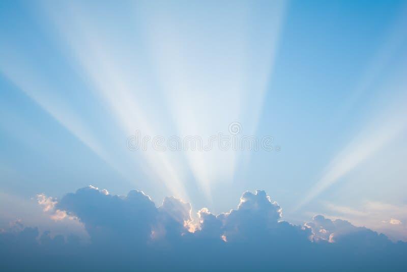 Небо утра цвет пестроткано стоковое фото