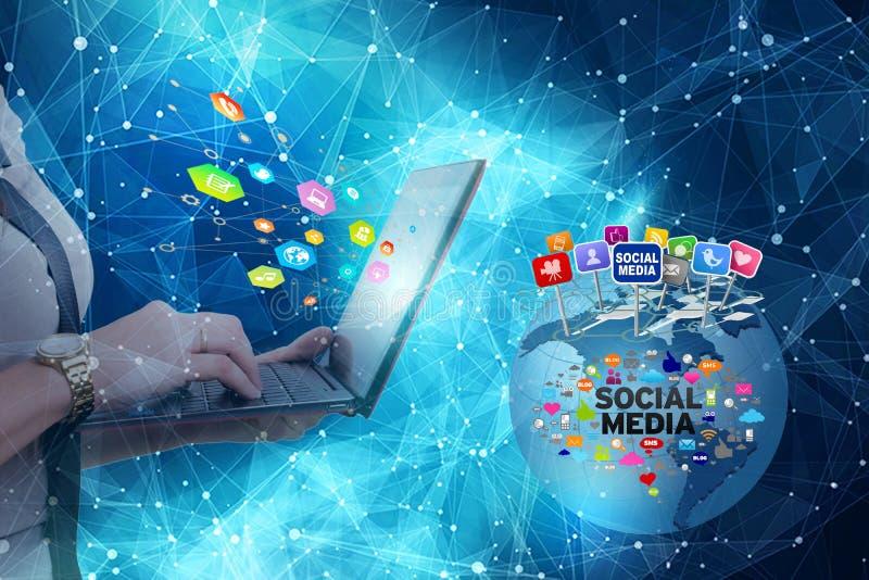 Незащищенное избежание частной информации над социальными сетями стоковое изображение