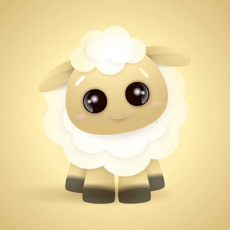 Немногое милый характер овец белых волос бесплатная иллюстрация