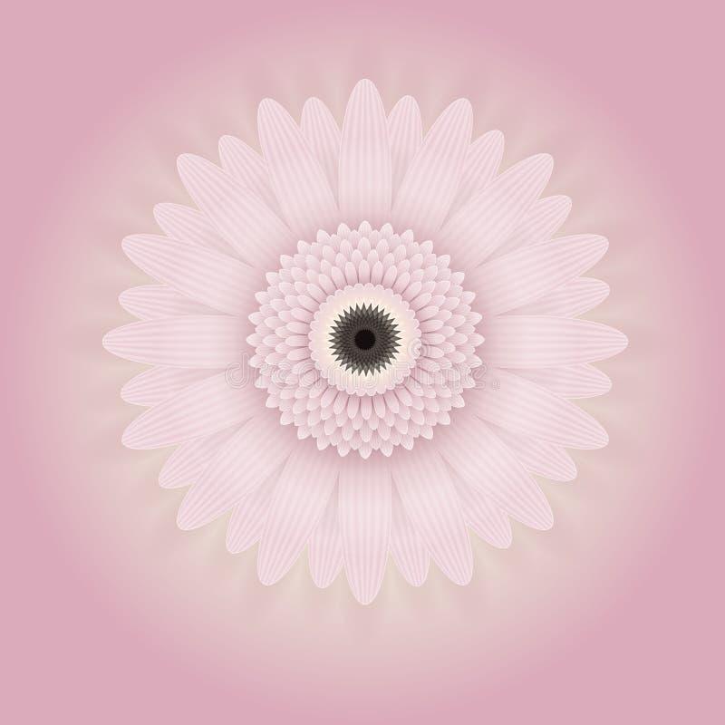 Немножко розовый цветок голубой вектор неба радуги изображения облака С пинком и желтой предпосылкой иллюстрация вектора
