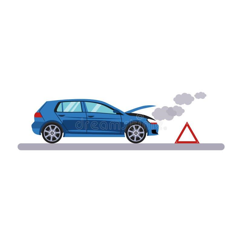 Нервное расстройство автомобиля и транспорта также вектор иллюстрации притяжки corel иллюстрация штока