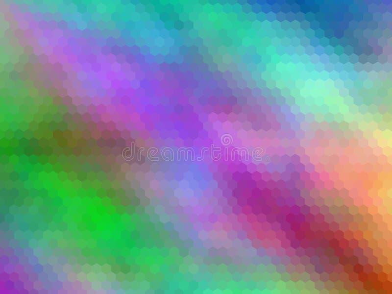 Новая роскошная предпосылка Multicolor, шестиугольно pixeled бесплатная иллюстрация