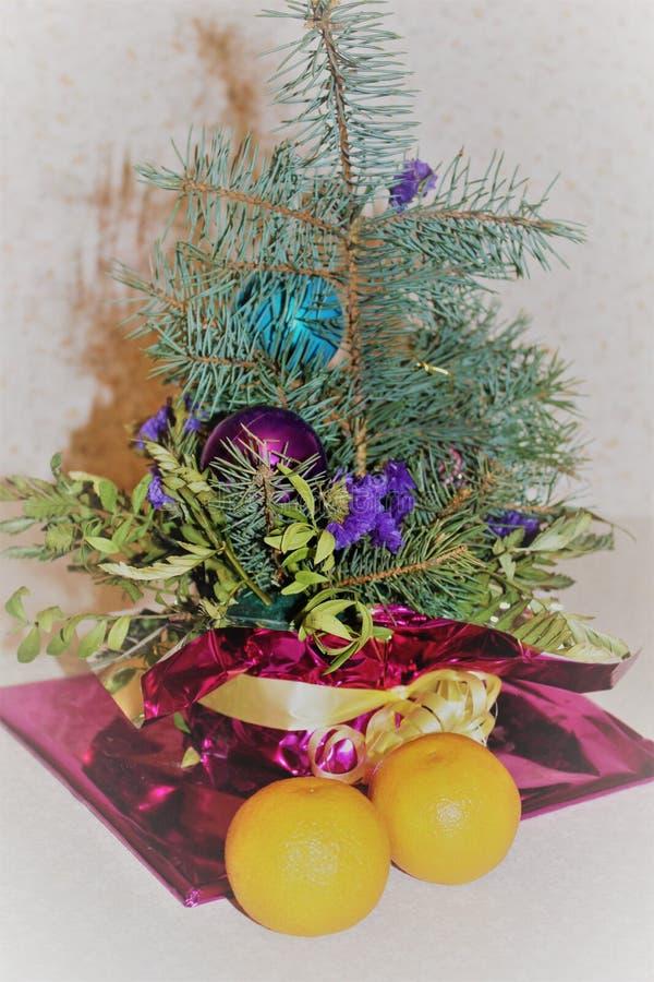 новогодняя композиция stock photos